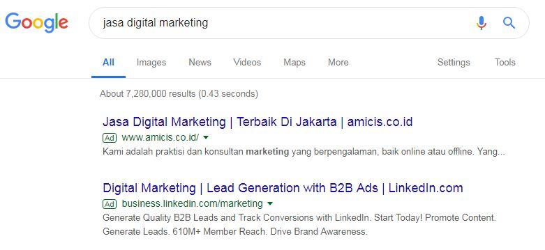 Contoh Iklan PPC Google Ads