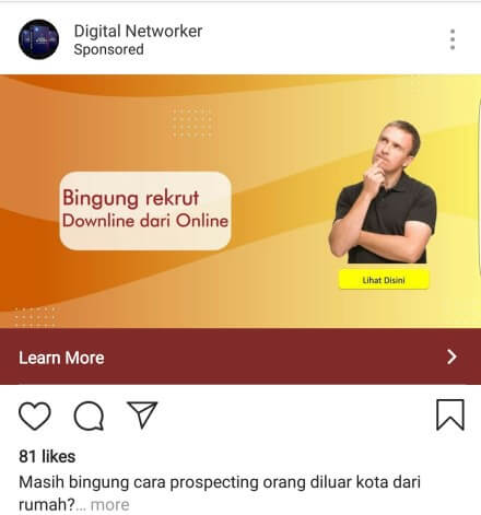 Contoh Iklan PPC Instagram Ads
